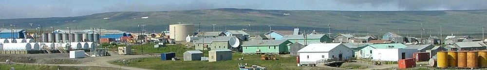 View over Nome, Alaska on a sunny day