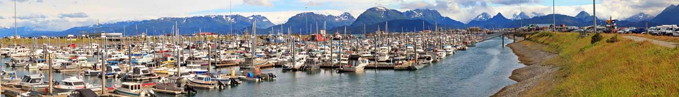 Harbor view in Homer, Alaska