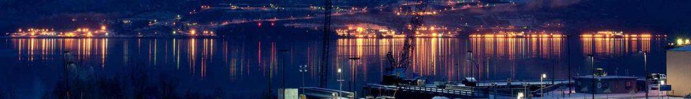 Oil & Gas: Nighttime in Valdez, Alaska